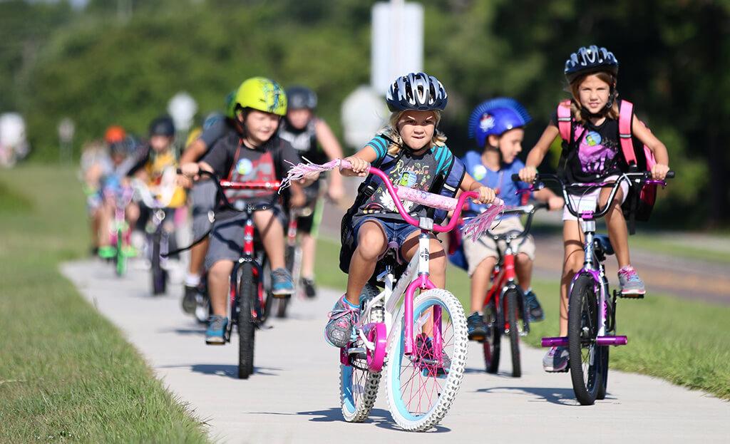 The Health Benefits of Kids Biking to School