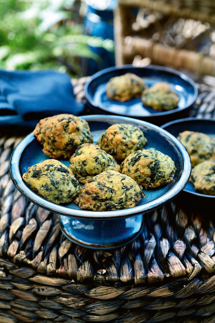 Spinach cheese biscuits from Pascal Nice's new book,