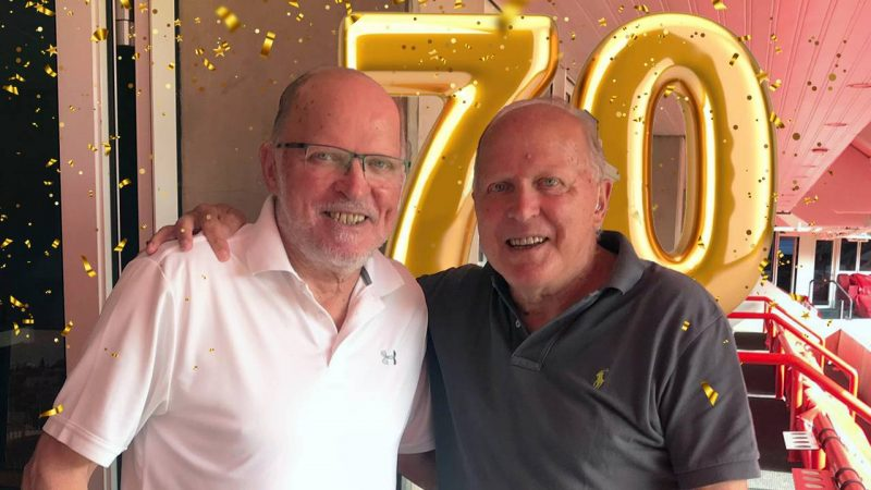 """Congratulations on the 70th birthday of Willy and Rene van de Kerkhove: """"Wonderful guests"""""""