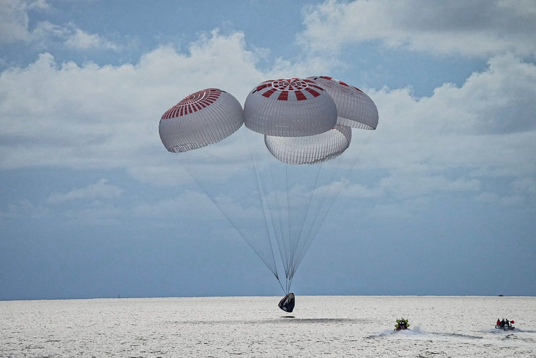 The space tourists returned to Earth after three days