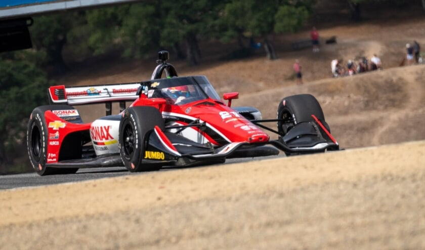 Poor communication frustrates VeeKay catching up with the race at Laguna Seca    HC . News