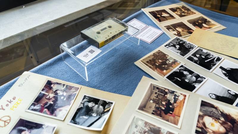 Cassette tape of John Lennon's unreleased song is up for auction in Denmark