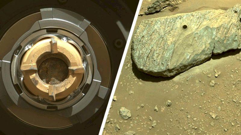 NASA rejoices: Persevering Mars explorer secures rock dust