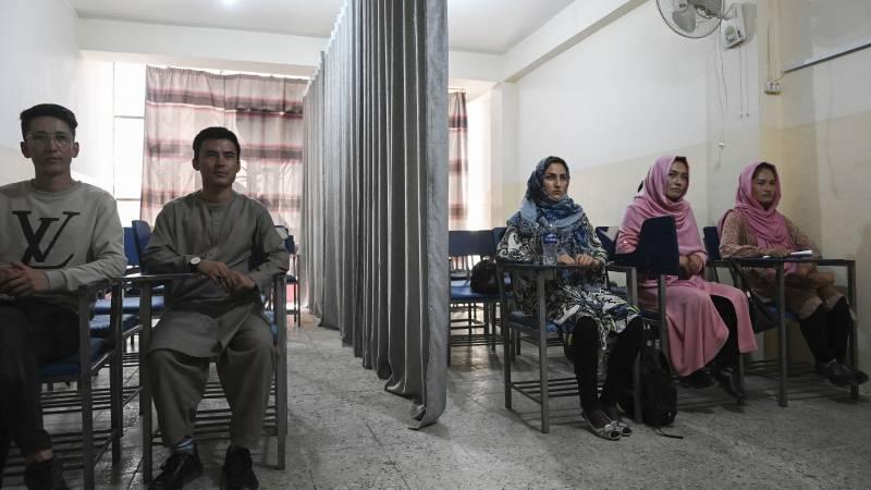 The Taliban separates women from men in universities