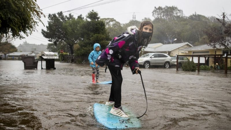 A devastating rainstorm is sweeping the west coast of the United States