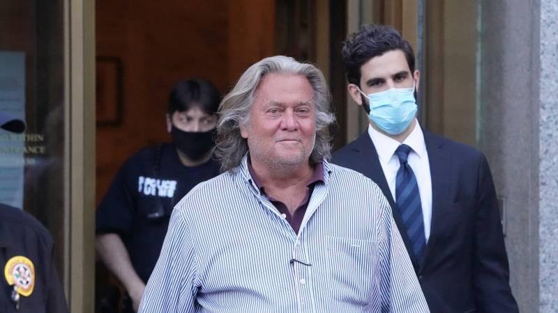 Ex-Trump adviser Bannon walks away from Capitol storm investigations