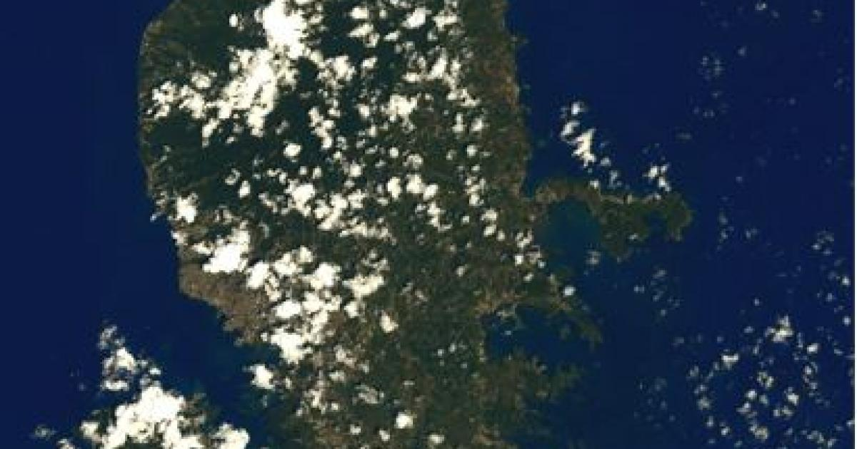 Martinique seen from space by Thomas Pesquet