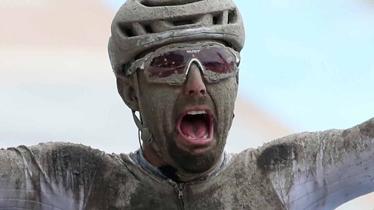 Sonny Colbrelli won the Paris-Roubaix Champion Edition and Van der Poel finished third
