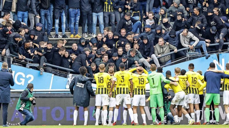 Tribune Vde Gouvert surrenders to Vitesse fans' celebration |  football