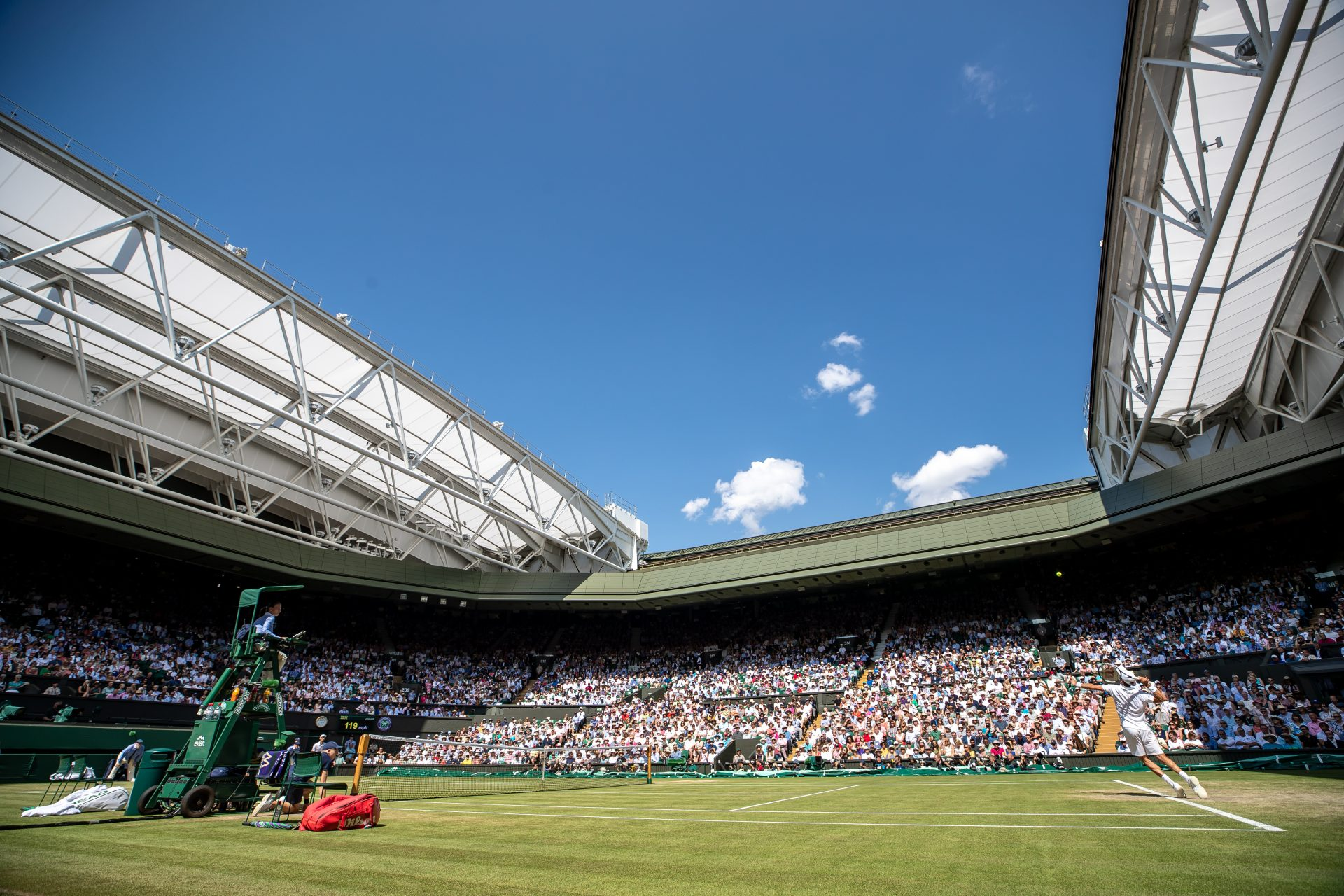 Wimbledon is allowed to be completely full, Wembley is not for the semi-finals and finals